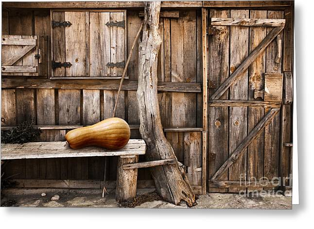 Old Cabins Greeting Cards - Wooden shack Greeting Card by Carlos Caetano