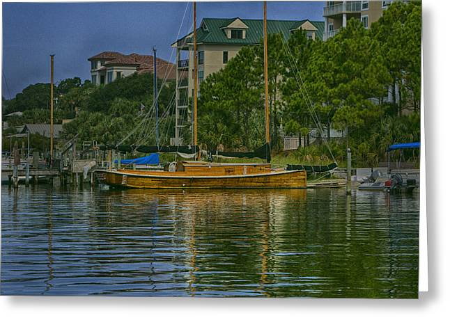 Wooden Ship Greeting Cards - Wooden Ship Greeting Card by Joel P Black