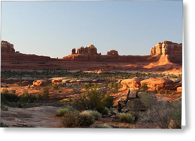 Clear Shoes Greeting Cards - Wooden Shoe Arch in Canyonlands NP Greeting Card by Jean Clark