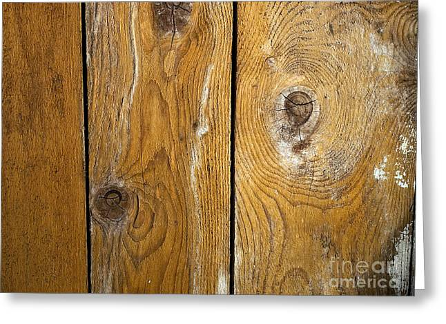 Old Wall Greeting Cards - Wooden Greeting Card by Sinisa Botas