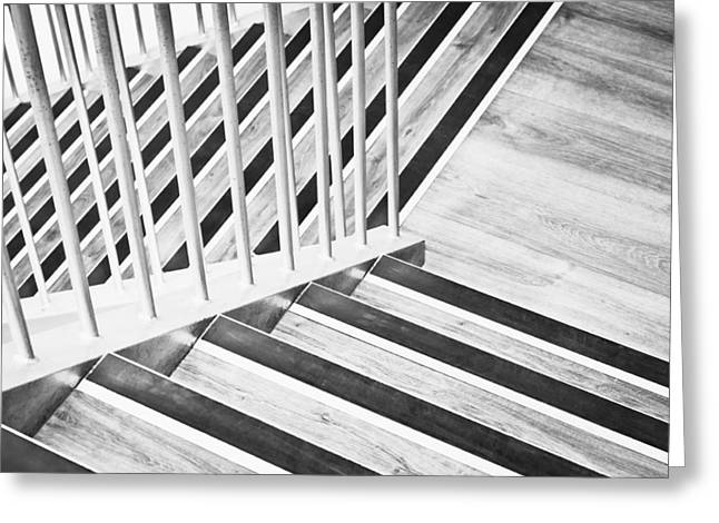 Wooden Stairs Greeting Cards - Wooden stairs Greeting Card by Tom Gowanlock