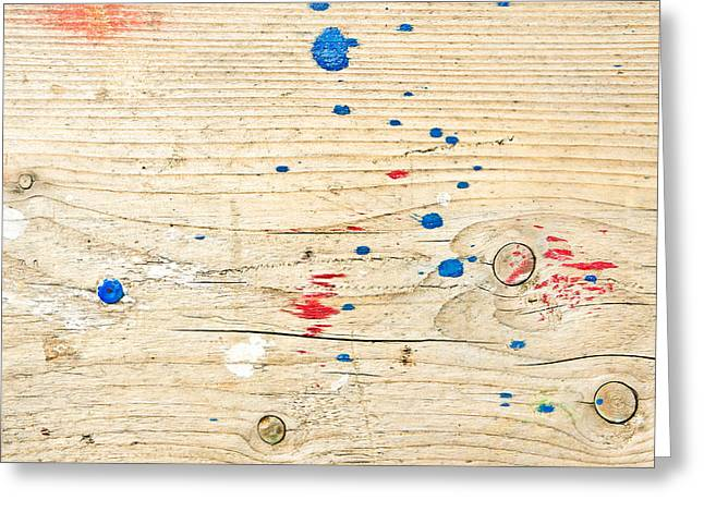 Wooden Surface Greeting Card by Tom Gowanlock