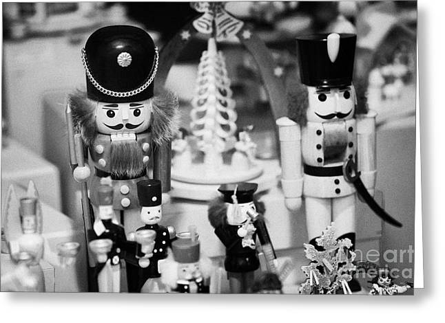 Berlin Germany Greeting Cards - wooden toy soldiers on a stall in the christmas market Berlin Germany Greeting Card by Joe Fox