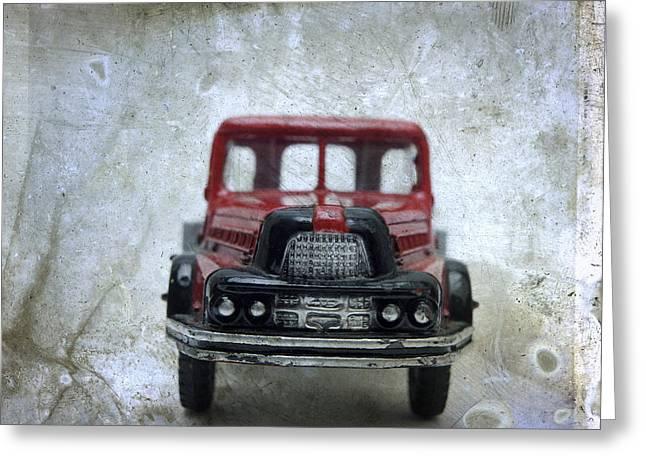 Wooden Truck Greeting Card by Bernard Jaubert