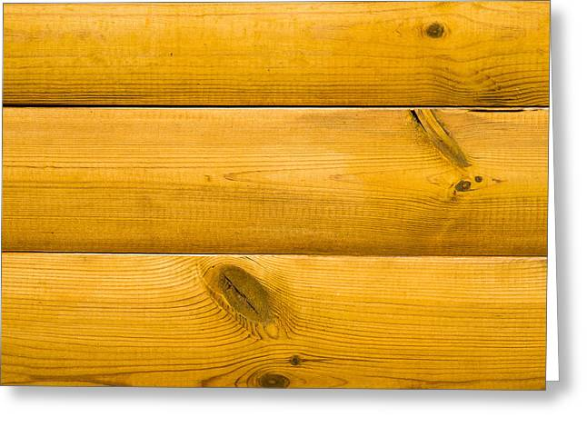 Floorboards Greeting Cards - Wooden Wall 2 Greeting Card by Alexander Senin