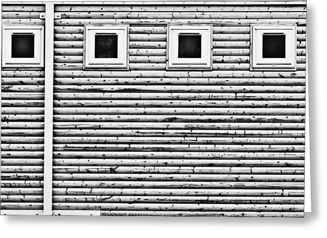 Gutter Greeting Cards - Wooden wall Greeting Card by Tom Gowanlock