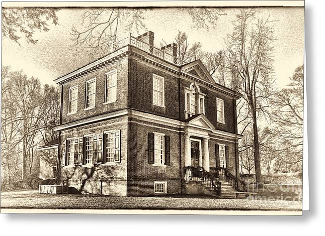 Fairmount Park Greeting Cards - Woodford Mansion Greeting Card by Olivier Le Queinec