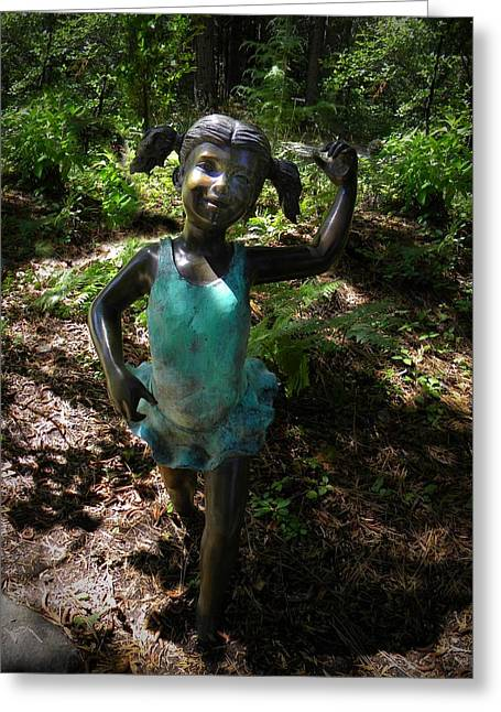 Garden Statuary Greeting Cards - Woodland Ballerina Greeting Card by Frank Wilson