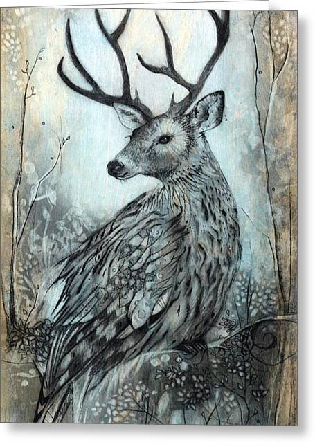 Fabled Mixed Media Greeting Cards - Woodland Fable Greeting Card by Sharlena Wood