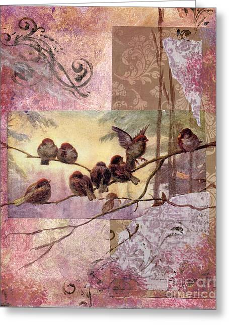 Nature Study Mixed Media Greeting Cards - Woodland Flight Greeting Card by Tamyra Crossley