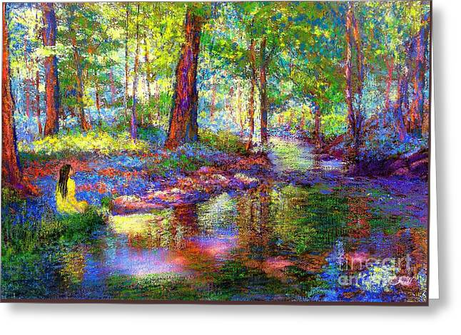 Impressionist Greeting Cards - Woodland Rapture Greeting Card by Jane Small