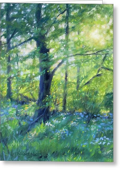 Woodland Sunset Greeting Card by Bonnie Mason