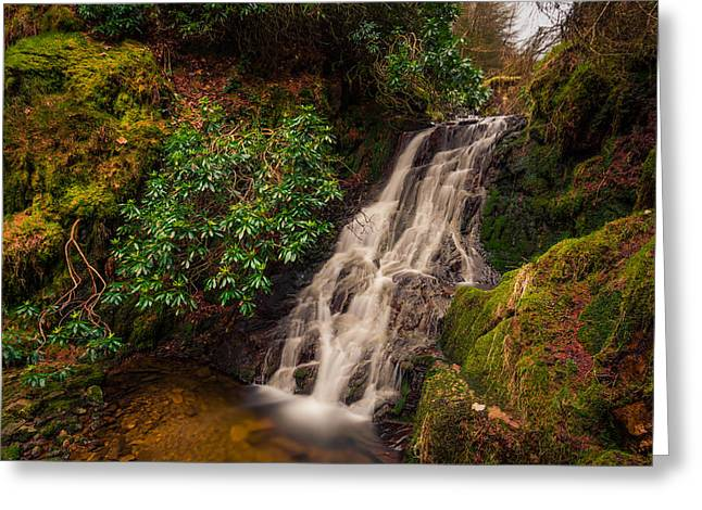 Long Exposure Greeting Cards - Woodland Waterfall. Greeting Card by Daniel Kay