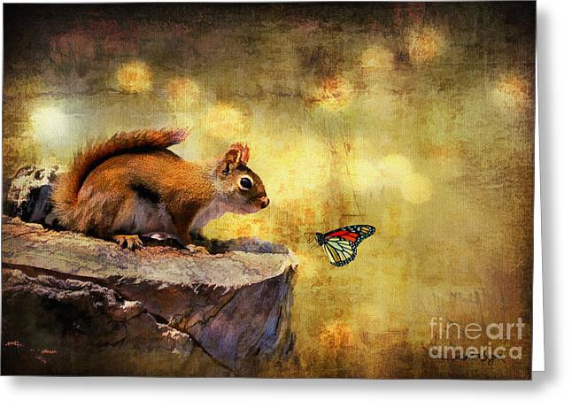 Insect Greeting Cards - Woodland Wonder Greeting Card by Lois Bryan