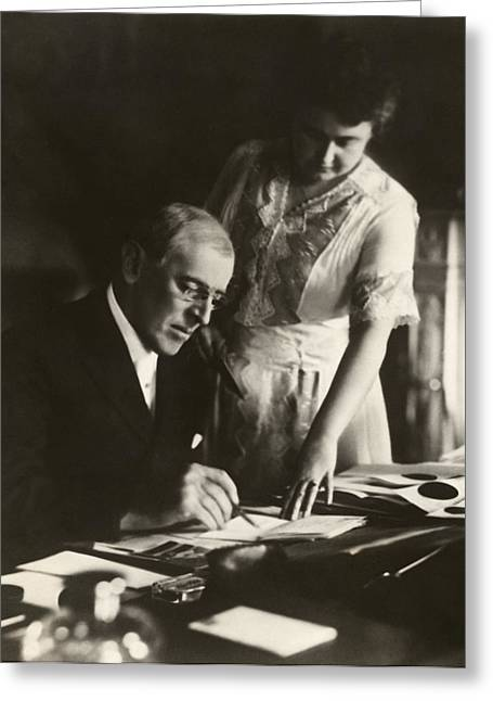 First-lady Digital Art Greeting Cards - Woodrow and Edith Wilson Greeting Card by Nomad Art And  Design