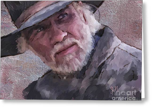 Tommy Hat Greeting Cards - Woodrow Greeting Card by Jack Milchanowski