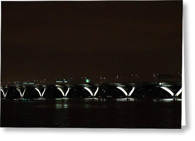 Wilson Greeting Cards - Woodrow Wilson Bridge - Washington DC - 011310 Greeting Card by DC Photographer