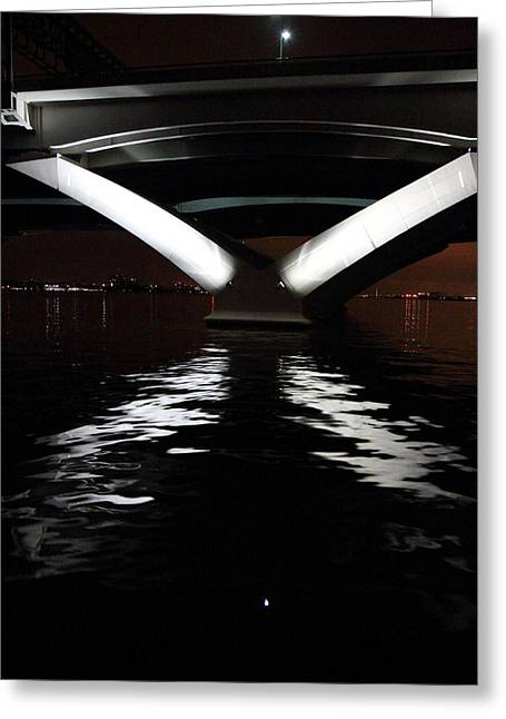 Capitol Greeting Cards - Woodrow Wilson Bridge - Washington DC - 011314 Greeting Card by DC Photographer