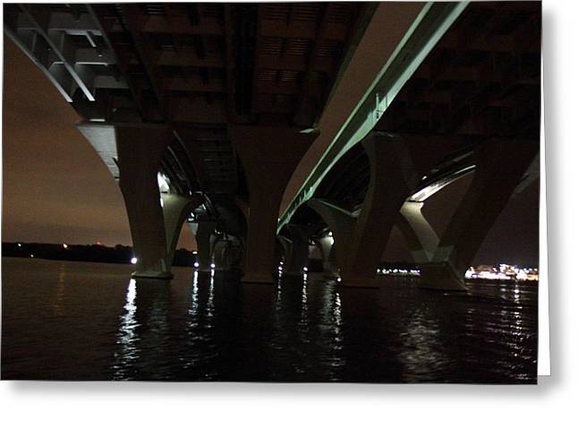 Woodrow Wilson Bridge - Washington Dc - 011333 Greeting Card by DC Photographer