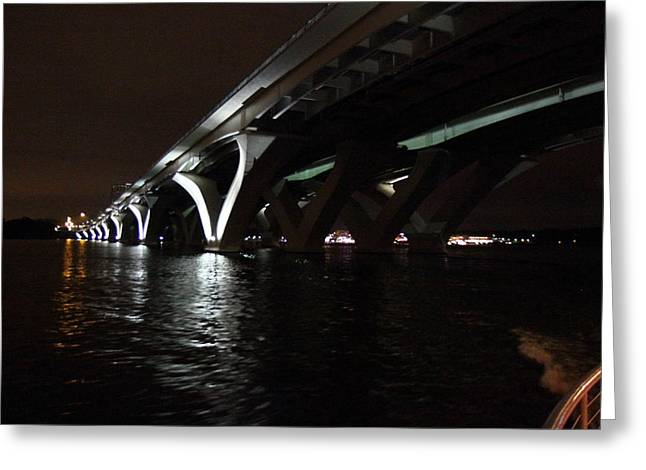 Bridge Greeting Cards - Woodrow Wilson Bridge - Washington DC - 011336 Greeting Card by DC Photographer