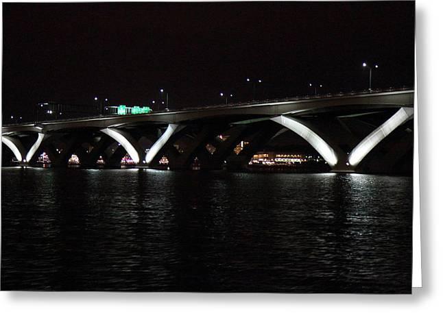 Woodrow Greeting Cards - Woodrow Wilson Bridge - Washington DC - 011338 Greeting Card by DC Photographer