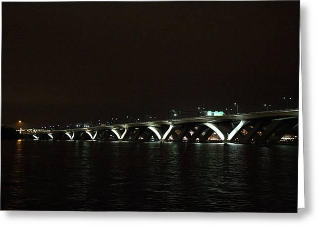 Bridge Photographs Greeting Cards - Woodrow Wilson Bridge - Washington DC - 011339 Greeting Card by DC Photographer