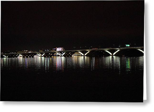 Bridges Greeting Cards - Woodrow Wilson Bridge - Washington DC - 011344 Greeting Card by DC Photographer