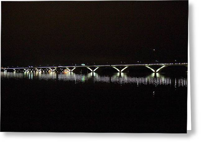 Bridge Greeting Cards - Woodrow Wilson Bridge - Washington DC - 011347 Greeting Card by DC Photographer