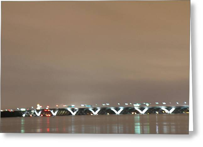 Curves Greeting Cards - Woodrow Wilson Bridge - Washington DC - 01135 Greeting Card by DC Photographer