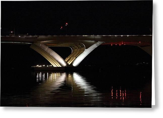 District Greeting Cards - Woodrow Wilson Bridge - Washington DC - 011352 Greeting Card by DC Photographer