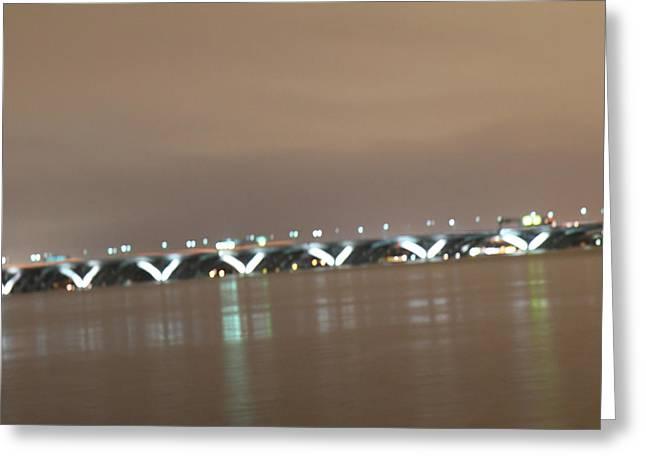 Arches Greeting Cards - Woodrow Wilson Bridge - Washington DC - 01136 Greeting Card by DC Photographer