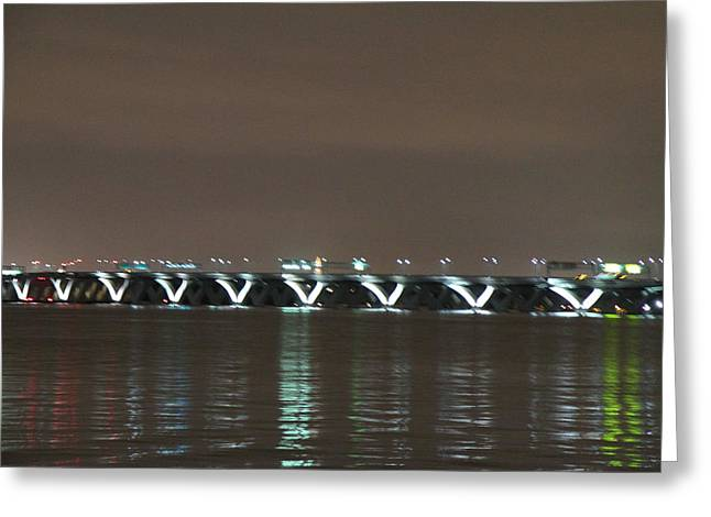 Capitol Greeting Cards - Woodrow Wilson Bridge - Washington DC - 01137 Greeting Card by DC Photographer