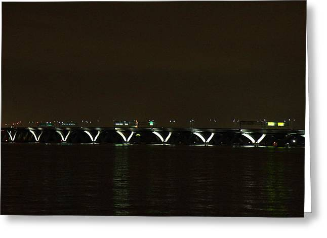 Woodrow Wilson Bridge - Washington DC - 01138 Greeting Card by DC Photographer