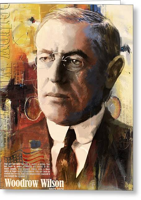 William Henry Harrison Greeting Cards - Woodrow Wilson Greeting Card by Corporate Art Task Force
