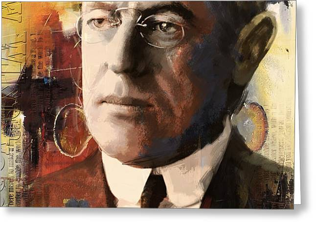 Woodrow Wilson Greeting Card by Corporate Art Task Force