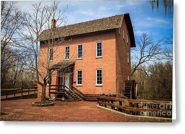 Wood's Grist Mill in Deep River County Park Greeting Card by Paul Velgos