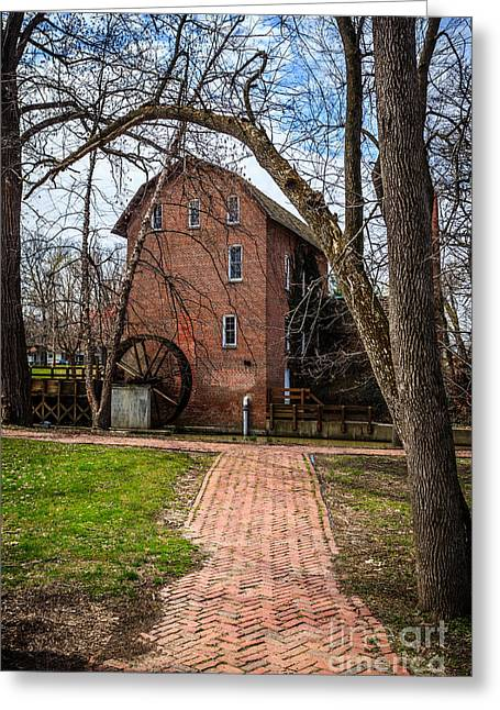 Grist Mill Greeting Cards - Woods Grist Mill in Hobart Indiana Greeting Card by Paul Velgos