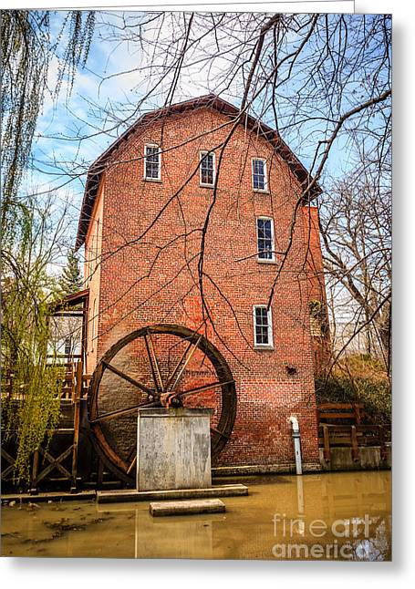 Grist Mill Greeting Cards - Woods Grist Mill in Northwest Indiana Greeting Card by Paul Velgos