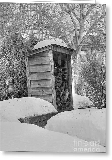 Wood Shed Greeting Cards - Woodshed Greeting Card by David Bearden