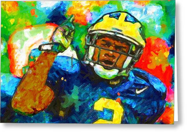 Woodson Greeting Cards - Woodson Owns The Big House Greeting Card by John Farr