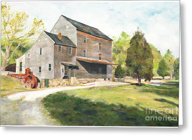 Woodson Greeting Cards - Woodsons Mill Greeting Card by J Luis Lozano