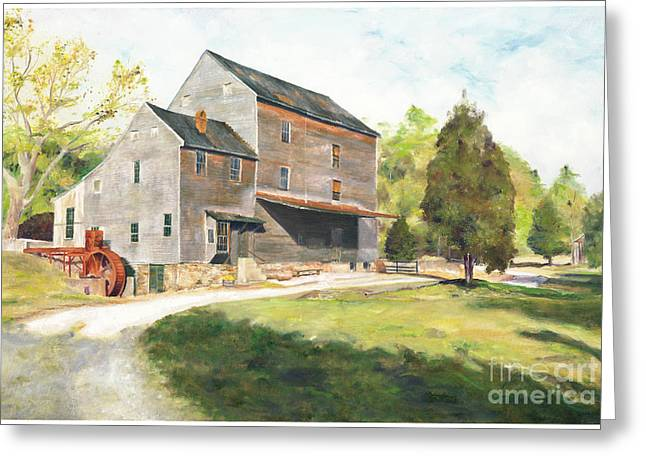 Woodsons Mill Greeting Card by J Luis Lozano