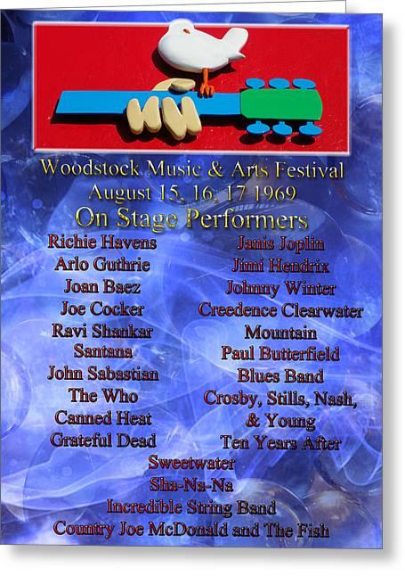 Pamela Phelps Greeting Cards - Woodstock Music and Arts Festival Greeting Card by Pamela Phelps
