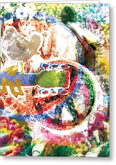 Painted Flowers Greeting Cards - Woodstock Original Painting Print  Greeting Card by Ryan RockChromatic