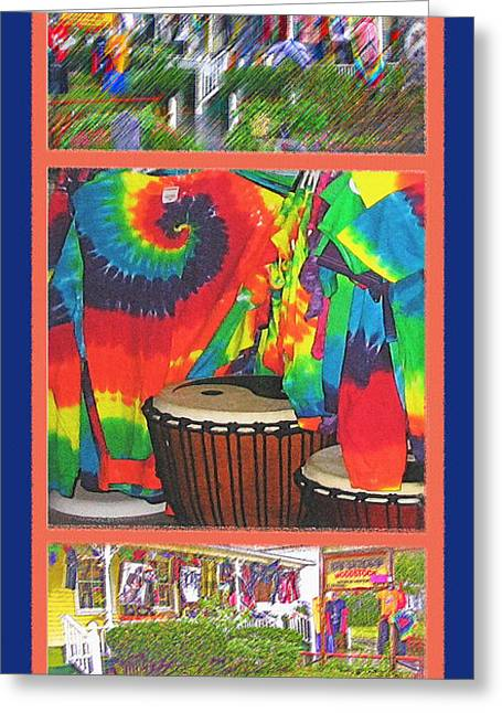 Protest Mixed Media Greeting Cards - Woodstock Triptych Greeting Card by Steve Ohlsen