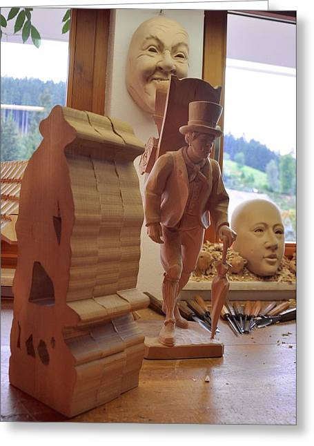 Woodcarving Greeting Cards - Woodworking stages Greeting Card by Matt MacMillan