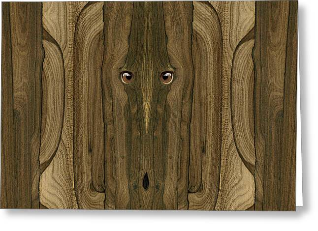 Anthropomorphic Digital Greeting Cards - Woody #18 Greeting Card by Rick Mosher