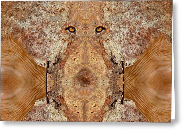 Anthropomorphic Digital Greeting Cards - Woody 45 Greeting Card by Rick Mosher