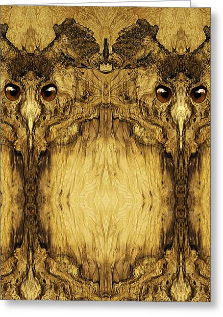 Anthropomorphic Digital Greeting Cards - Woody 49 Greeting Card by Rick Mosher