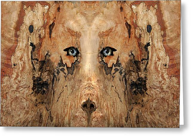 Anthropomorphic Digital Greeting Cards - Woody 59 Greeting Card by Rick Mosher
